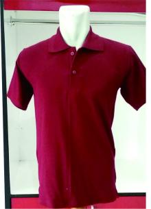 POLO SHIRT lacoste cotton Merah Maroon